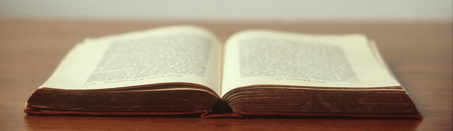 Photo d'un livre ouvert