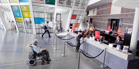 Visuel accessibilité fauteuil roulant