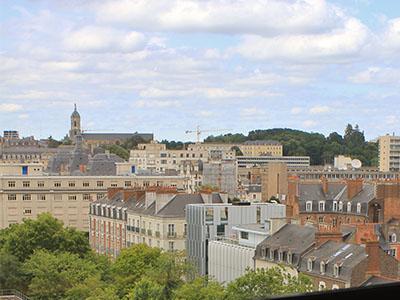 La ville vue depuis la Bibliothèque
