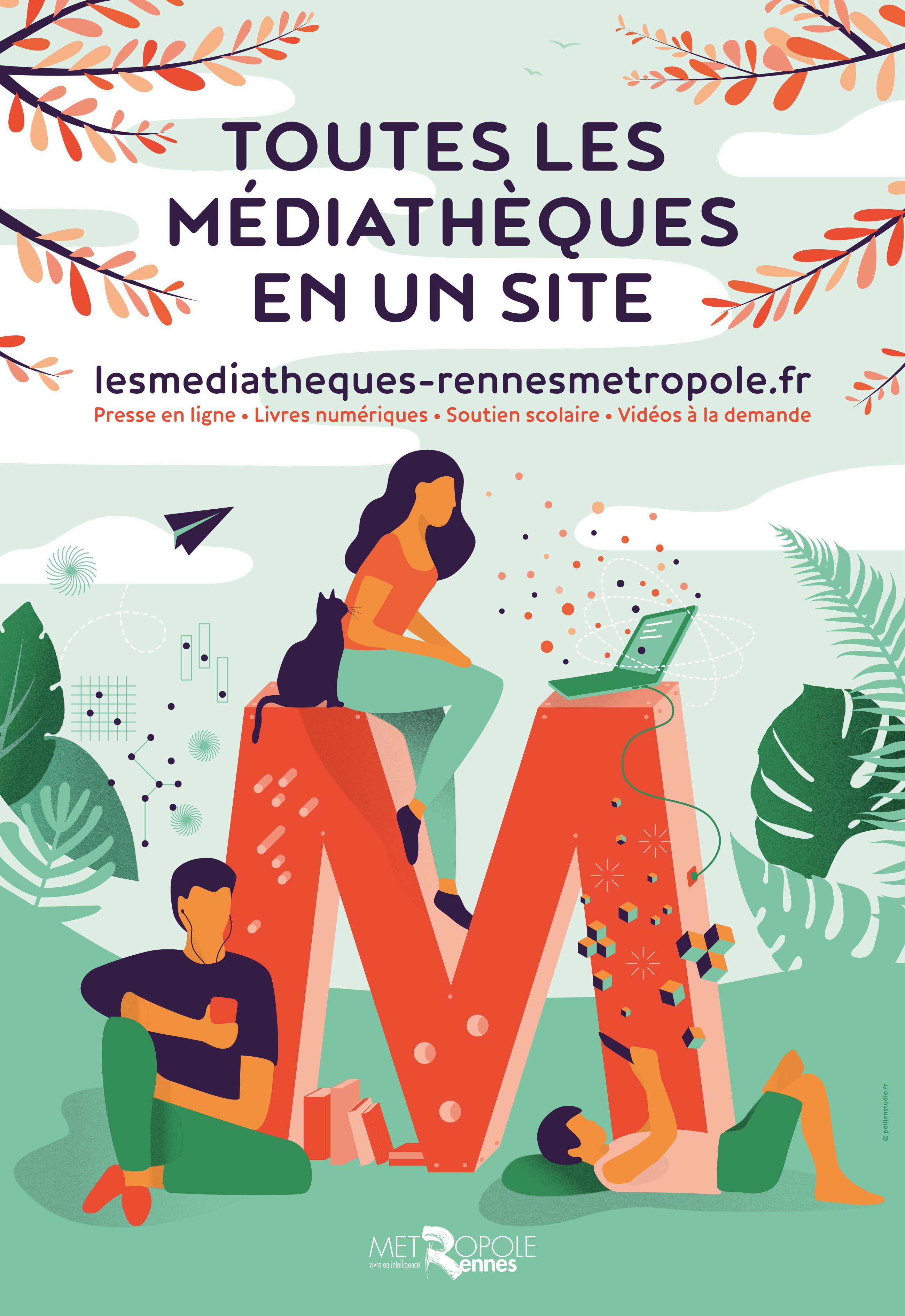 Les médiathèques de Rennes Métropole