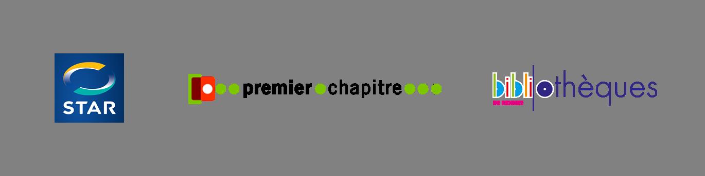 Logo des partenaires : STAR, 1er chapitre et les bibliothèques de Rennes
