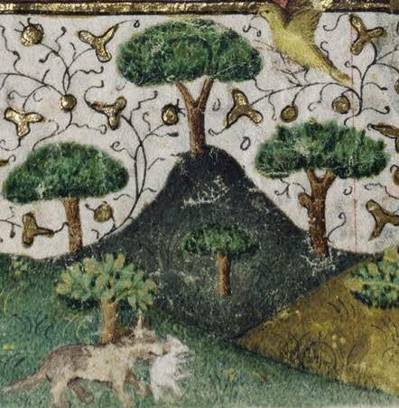 Bergers dans la forêt - détails