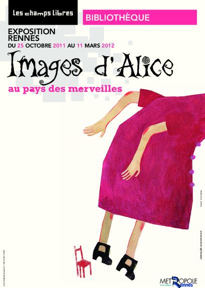 Affiche de l'exposition Images d'Alice