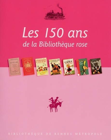 Affiche des 150 ans de la bibliothèque rose